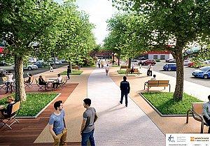 Le site va être davantage végétalisé avec la création d'une allée paysagère et sécurisante © Axis Ingénierie - Clarisse Meriel Architecte Hmnop