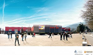 Création d'un espace « boîte noire » (nouvelle configuration) pour des évènements de 500 à 1 200 personnes au sein du Phare © Axis Ingénierie - Clarisse Meriel Architecte Hmnop